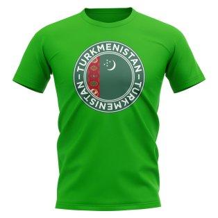 Turkmenistan Football Badge T-Shirt (Green)