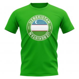 Uzbekistan Football Badge T-Shirt (Green)