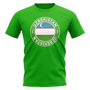 Uzbekistan Football Badge T-Shirt (Green)