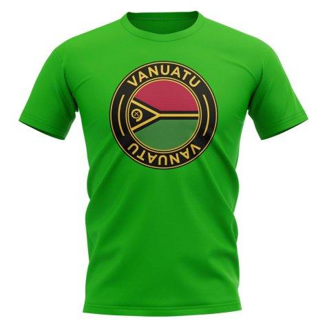 Vanuatu Football Badge T-Shirt (Green)