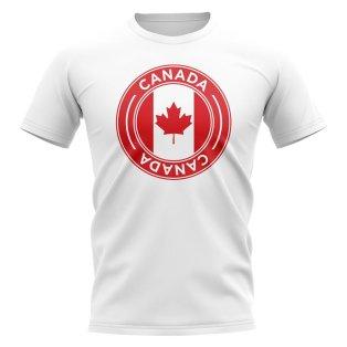 Canada Football Badge T-Shirt (White)