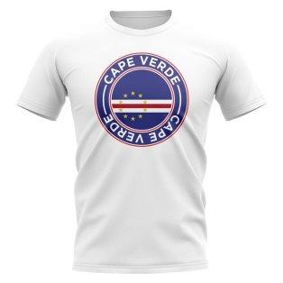 Cape Verde Football Badge T-Shirt (White)