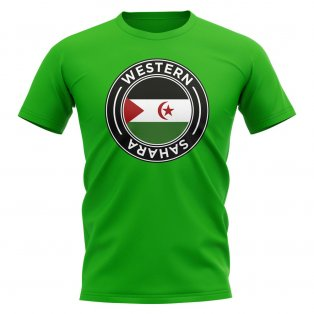 Western Sahara Football Badge T-Shirt (Green)