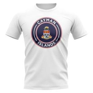 Cayman Islands Football Badge T-Shirt (White)