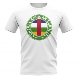 Central African Republic Football Badge T-Shirt (White)