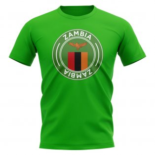 Zambia Football Badge T-Shirt (Green)