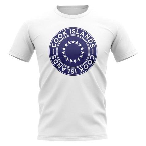 Cook Islands Football Badge T-Shirt (White)