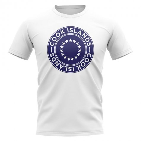 Cook Islands Football Badge T-Shirt (White)