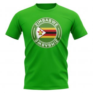 Zimbabwe Football Badge T-Shirt (Green)