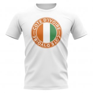 Cote D'Ivoire Football Badge T-Shirt (White)