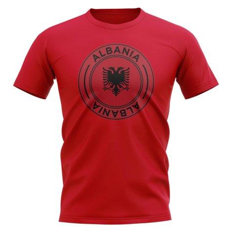 Albania Football Badge T-Shirt (Red)