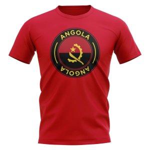 Angola Football Badge T-Shirt (Red)