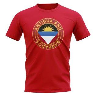 Antigua and Barbados Football Badge T-Shirt (Red)