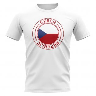 Czech Republic Football Badge T-Shirt (White)