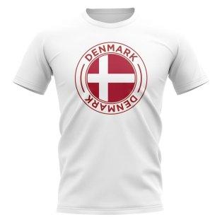 Denmark Football Badge T-Shirt (White)