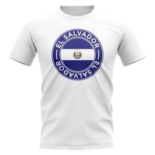 El Salvador Football Badge T-Shirt (White)