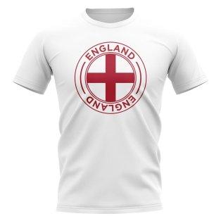 England Football Badge T-Shirt (White)