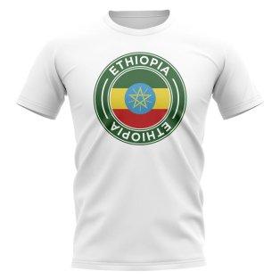 Ethiopia Football Badge T-Shirt (White)