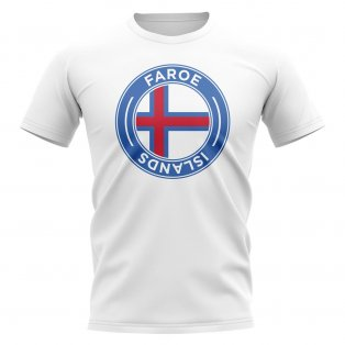 Faroe Islands Football Badge T-Shirt (White)
