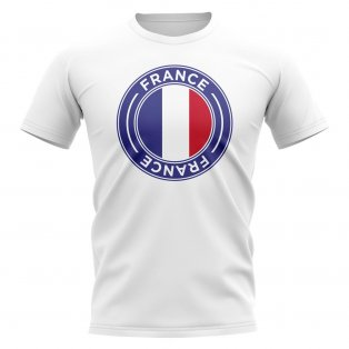 France Football Badge T-Shirt (White)