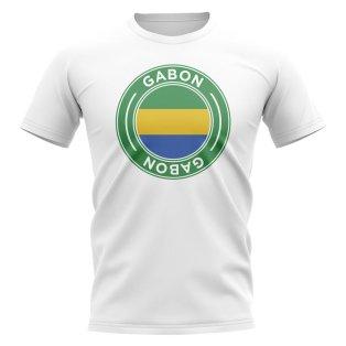 Gabon Football Badge T-Shirt (White)