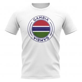Gambia Football Badge T-Shirt (White)
