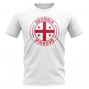Georgia Football Badge T-Shirt (White)