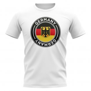 Germany Football Badge T-Shirt (White)