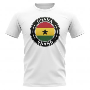 Ghana Football Badge T-Shirt (White)