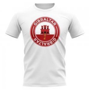 Gibraltar Football Badge T-Shirt (White)