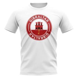 Gibraltar Football Badge T-Shirt (White)