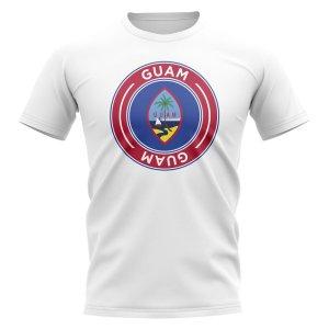 Guam Football Badge T-Shirt (White)