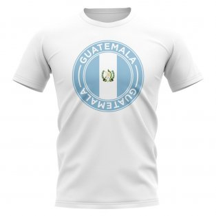 Guatemala Football Badge T-Shirt (White)