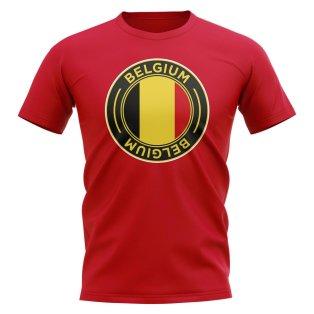 Belgium Football Badge T-Shirt (Red)