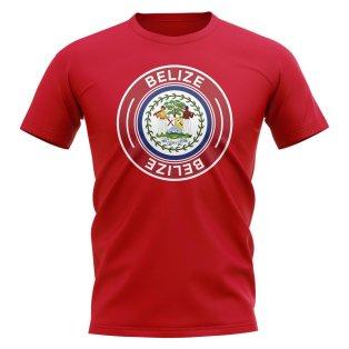 Belize Football Badge T-Shirt (Red)
