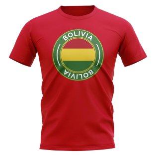 Bolivia Football Badge T-Shirt (Red)
