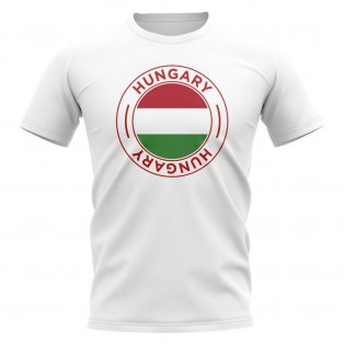Hungary Football Badge T-Shirt (White)