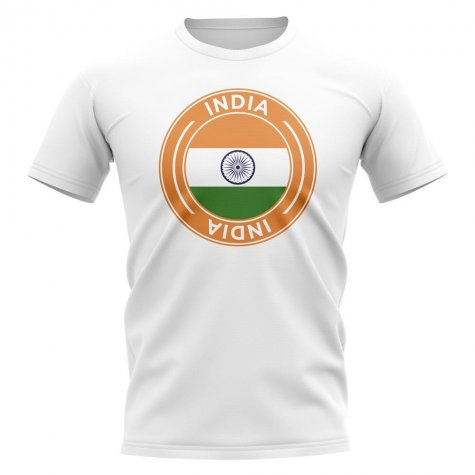 India Football Badge T-Shirt (White)