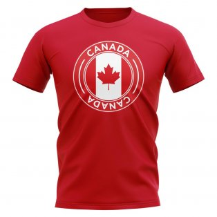 Canada Football Badge T-Shirt (Red)