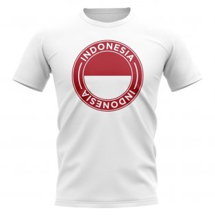 Indonesia Football Badge T-Shirt (White)