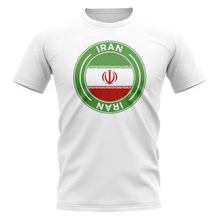 Iran Football Badge T-Shirt (White)