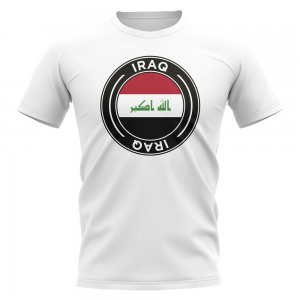 Iraq Football Badge T-Shirt (White)