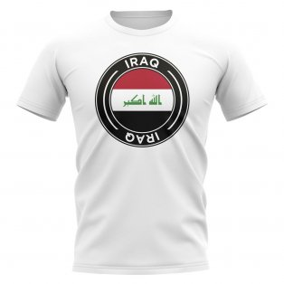 Iraq Football Badge T-Shirt (White)