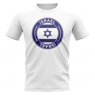 Israel Football Badge T-Shirt (White)