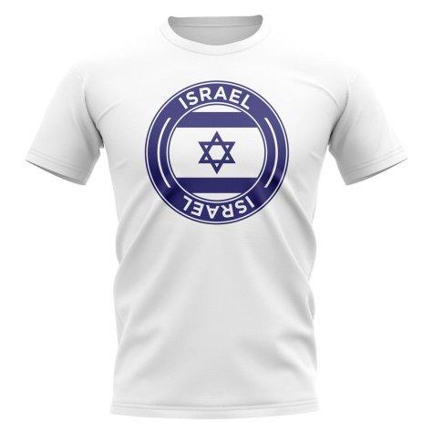 Israel Football Badge T-Shirt (White)