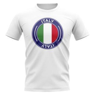 Italy Football Badge T-Shirt (White)