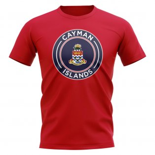Cayman Islands Football Badge T-Shirt (Red)
