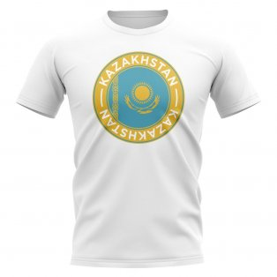 Kazakhstan Football Badge T-Shirt (White)