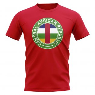 Central African Republic Football Badge T-Shirt (Red)