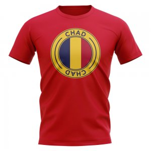 Chad Football Badge T-Shirt (Red)